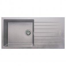 Signature Prima Granite Composite 1.0 Bowl Kitchen Sink with Waste Kit 1000 L x 500 W - Light Grey