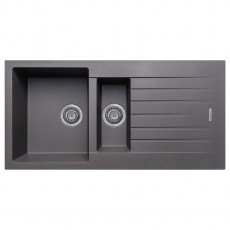 Signature Prima Granite Composite 1.5 Bowl Kitchen Sink with Waste Kit 1000 L x 500 W - Gun Metal