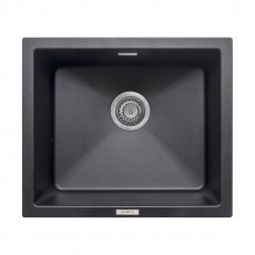 Signature Prima Granite Composite 1.0 Bowl Undermount Kitchen Sink with Waste Kit 533 L x 457 W - Black