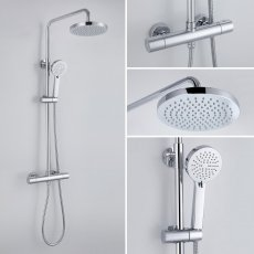 Signature Primo Cool-Touch Thermostatic Bar Mixer Shower with Shower Kit and Fixed Head - Stainless Steel