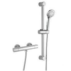 Signature Primo Cool-Touch Thermostatic Bar Mixer Shower with Adjustable Shower Riser Kit - Chrome