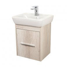 Signature Simple Cloakroom Vanity Unit with Basin 450mm - Bleached Oak