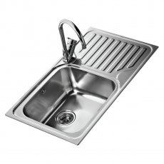 Signature Teka 1.0 Bowl Kitchen Sink RH with Waste Kit 860 L x 500 W - Stainless Steel