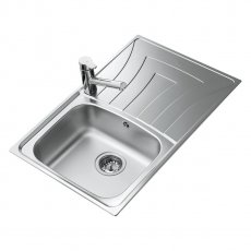 Signature Teka Universo 1.0 Bowl Kitchen Sink with Waste Kit 790 L x 500 W - Stainless Steel