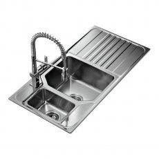 Signature Teka Premium 1.5 Bowl Kitchen Sink with Waste Kit 1000 L x 500 W - Stainless Steel