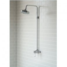 Signature Traditional Concentric Single Outlet Exposed Mixer Shower with Fixed Head - Chrome