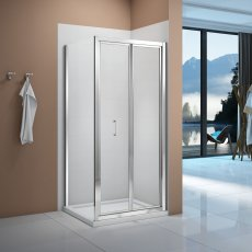 Signature Vibrance Bi-Fold Shower Door 1000mm Wide - 6mm Glass