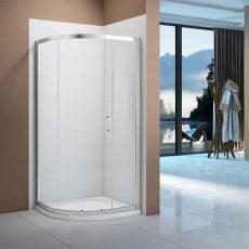 Signature Vibrance Single Door Offset Quadrant Shower Enclosure 1000mm x 800mm - 6mm Glass