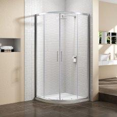 Signature Vibrance Subline Double Door Quadrant Shower Enclosure 900mm x 900mm - 8mm Glass