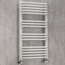S4H Apsley Heated Towel Rail 1100mm H x 600mm W - White