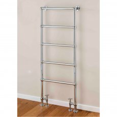 S4H Cleves Floor Mounted Heated Towel Rail 1548mm H x 598mm W - Chrome