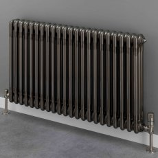S4H Cornel 3 Column Horizontal Radiator 600mm H x 834mm W - 18 Sections - Lacquer