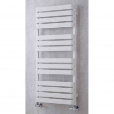 S4H Milton Flat Panel Heated Towel Rail 915mm H x 500mm W - White