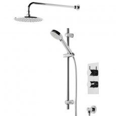 Tavistock Quantum Dual Concealed Shower Mixer with Shower Kit and Fixed Head - Chrome