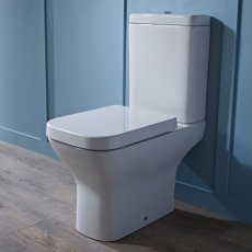 Tavistock Structure Close Coupled Toilet with Push Button Cistern - Soft Close Seat