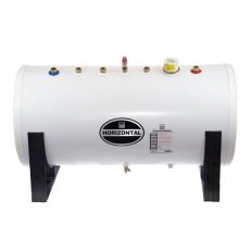 Telford Unvented Horizontal INDIRECT Stainless Steel Hot Water Cylinder 125 LITRE