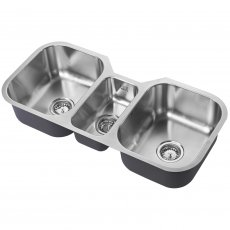 The 1810 Company Etrotrio 960/450U 3.0 Bowl Kitchen Sink - Stainless Steel