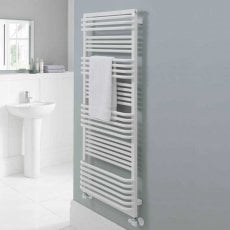 TRC Poll Heated Towel Rail 1055mm H x 700mm W White