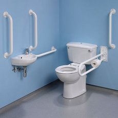 Twyford Doc M Value Pack with Close Coupled Disabled Toilet - White