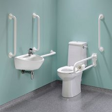 Twyford Doc M Super Pack with Rimless Disabled Toilet Right Handed - White