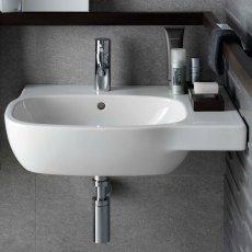 Twyford Moda Offset Washbasin 450mm Wide - 1 RH Tap Hole