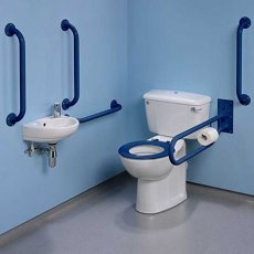 Twyford Doc M Value Pack with Close Coupled Disabled Toilet - Blue