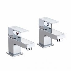 Twyford X62 Basin Pillar Taps Pair - Chrome