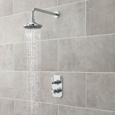 Nuie Beaumont Traditional Concealed Shower Mixer with Fixed Head - Chrome