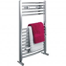 Ultraheat Chelmsford Curved Heated Towel Rail 900mm H x 420mm W - White