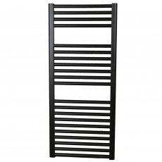 Ultraheat Chelmsford Straight Heated Towel Rail 1172mm H x 500mm W - Black