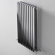 Ultraheat Klon Single Designer Vertical Radiator, 1800mm H x 383mm W, Chrome