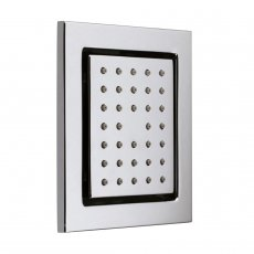 Vado Concealed Square Shower Body Tile Wall Mounted - Chrome
