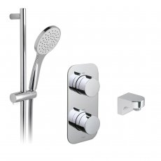 Vado Tablet Altitude Thermostatic Dual Concealed Mixer Shower with Shower Kit and Shower Wall Outlet
