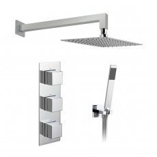 Vado Tablet Notion Thermostatic Triple Concealed Mixer Shower with Shower Kit + Fixed Head