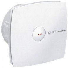Vectaire X-Mart Fan Extractor with Automatic Shutter and Overrun Timer 150mm H x 150mm W x 87mm D - White