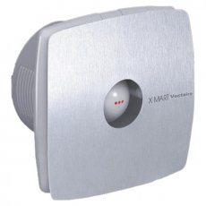 Vectaire X-Mart Fan Extractor with Overrun Timer 150mm H x 150mm W x 118mm D - Stainless Steel