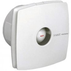 Vectaire X-Mart Fan Extractor with Overrun Timer 150mm H x 150mm W x 118mm D - White