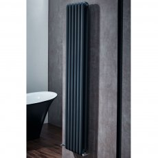 Verona Adare Designer Double Panelled Vertical Radiator 1800mm H x 377mm W - Anthracite