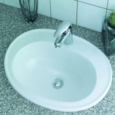 Verona Advantage Inset Counter Top Basin 530mm Wide 1 Tap Hole