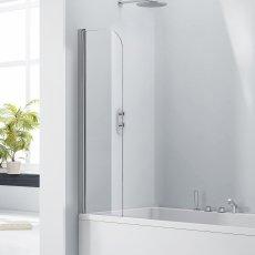 Verona Aquaglass+ Mini Straight Bath Screen 1400mm H x 300mm W - 5mm Glass