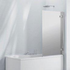 Verona Aquaglass+ Frameless Mirror Reflection Bath Screen 1500mm H x 800mm W - 8mm Glass
