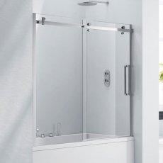 Verona Aquaglass+ Frameless Sliding Bath Screen 1500mm H x 1700mm W - 8mm Glass