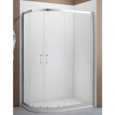 Verona Aquaglass Intro Offset Quadrant Shower Enclosure 900mm x 760mm with Shower Tray Left Handed
