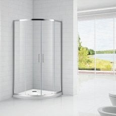 Verona Aquaglass Intro Quadrant Shower Enclosure 800mm x 800mm - 8mm Clear Glass