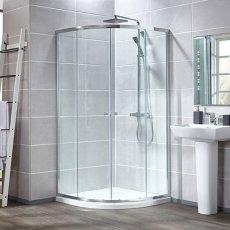 Verona Aquaglass Intro Quadrant Shower Enclosure 1000mm x 1000mm - 6mm Clear Glass