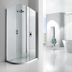 Verona Aquaglass+ Lux Offset Quadrant Shower Enclosure 1200mm x 800mm - Right Handed
