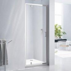 Verona Aquaglass Purity Pivot Shower Door 760mm Wide - 6mm Glass