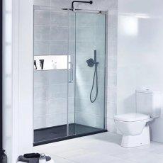 Verona Aquaglass+ Linear Sliding Shower Door 1200mm Wide - 8mm Glass