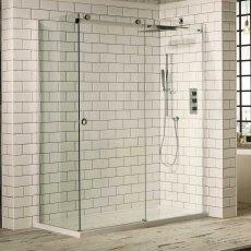 Verona Aquaglass+ Sphere Sliding Shower Door 1700mm Wide - 8mm Glass