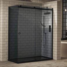 Verona Aquaglass+ Sphere Tinted Sliding Shower Door 1400mm Wide - 8mm Glass